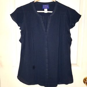 Navy blouse, LP